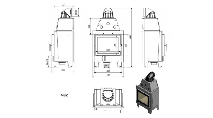 Kratki-MBZ 13 méretei