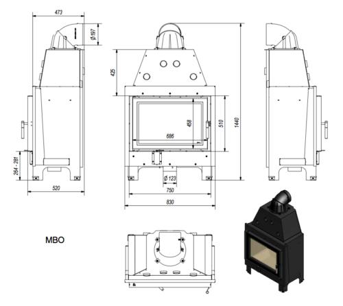 Kratki-MBO 15 méretei